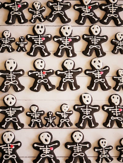 Spiced Chocolate Skeleton Cookies