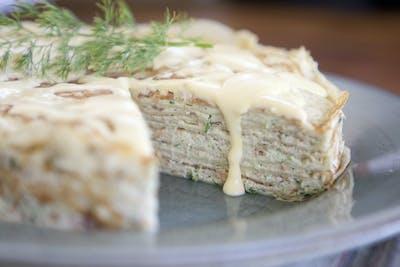 Smoked Salmon Crepe Torte