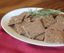 Spelt Rosemary Crackers compressed