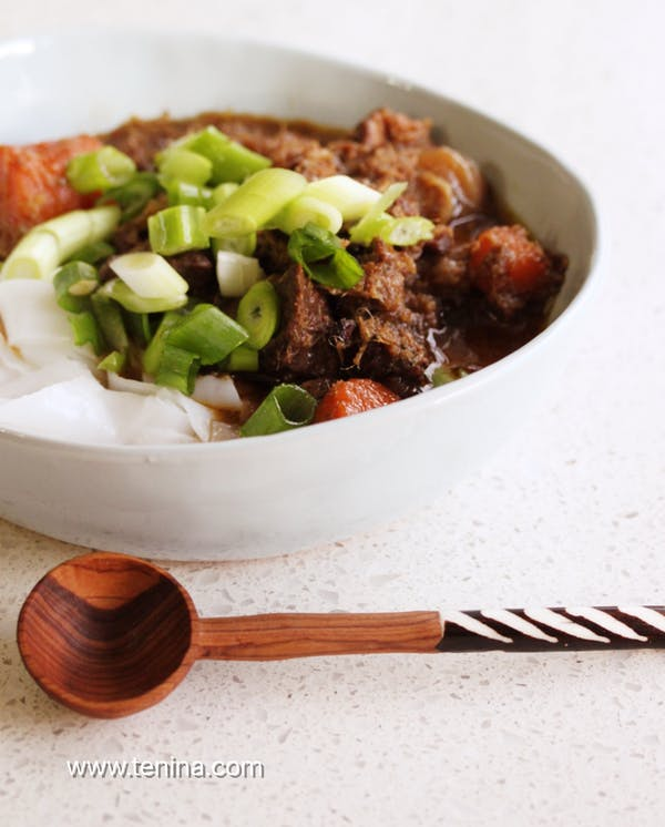 Spicy Ginger Beef Stew With Lemongrass Fotor