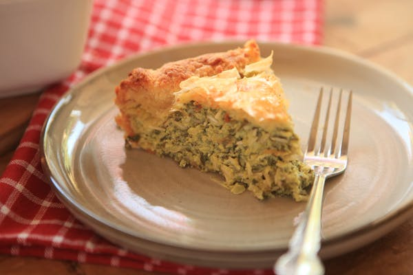 Spinach and Rice Slice