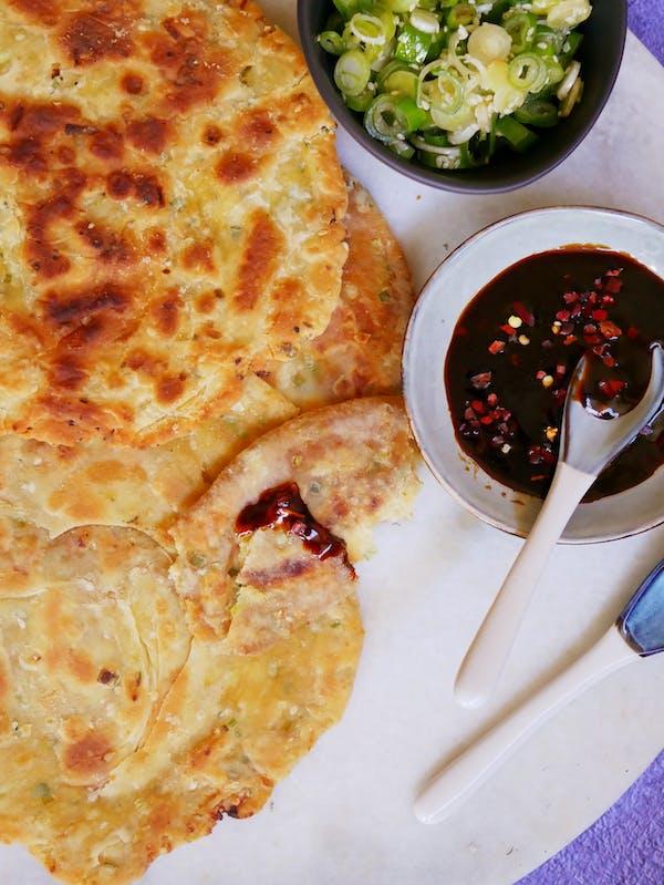 Spring Onion Pancakes OH P TENINA