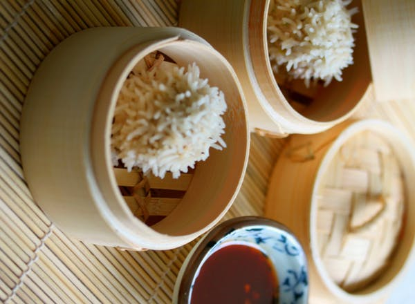 Steamed Rice Pork Balls