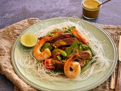 Thai Beef Salad with Prawns