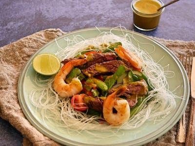 Thai Beef Salad with Prawns