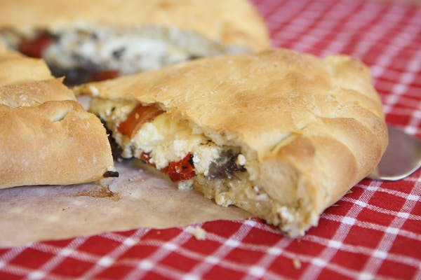 Three Cheese and Mushroom Calzone