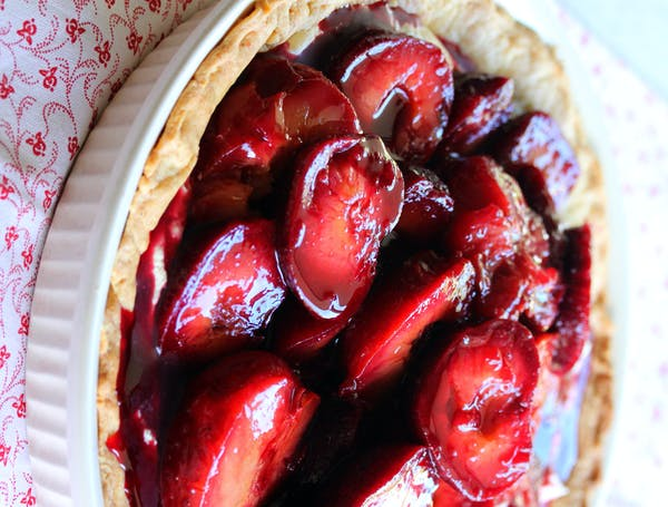 Vanilla Roasted Plum with Mascarpone Tart 1