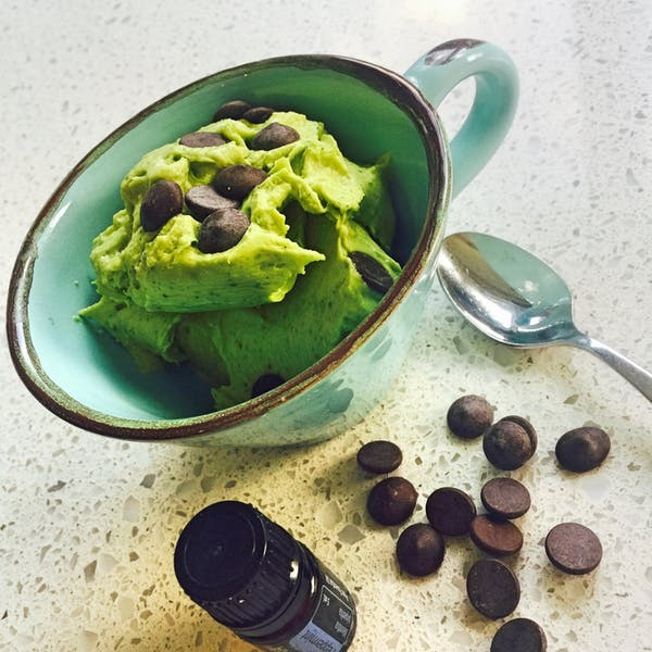 Vegan Mint Chocolate Chip Instant Ice Cream Fotor