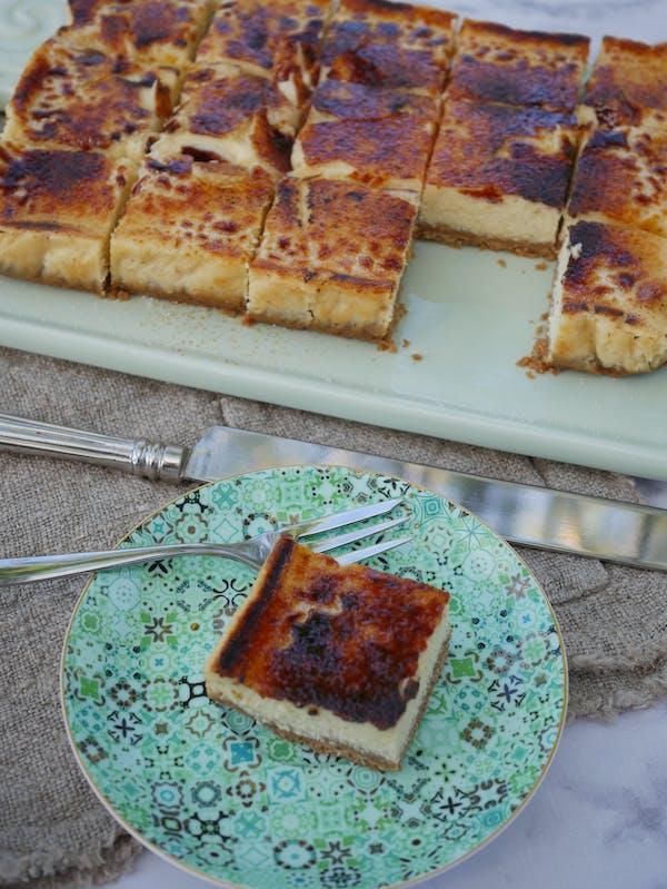 Very Vanilla Chai Cheesecake Brulee cut P