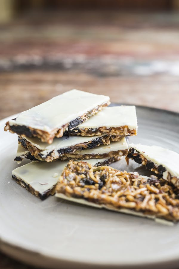 White Chocolate Cherry Florentines