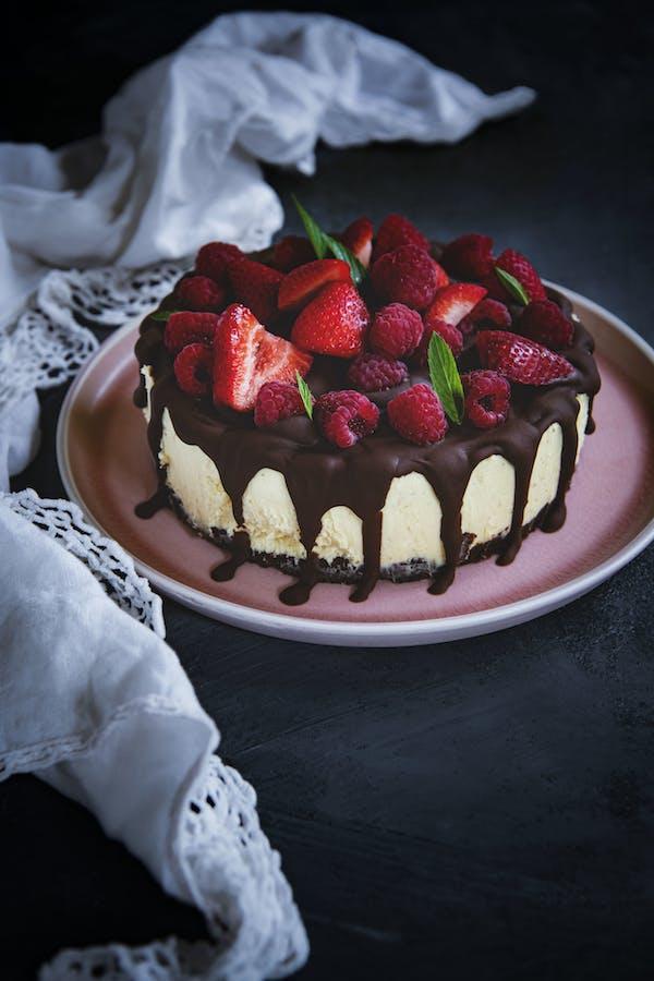 White Chocolate Raspberry Cheesecake P
